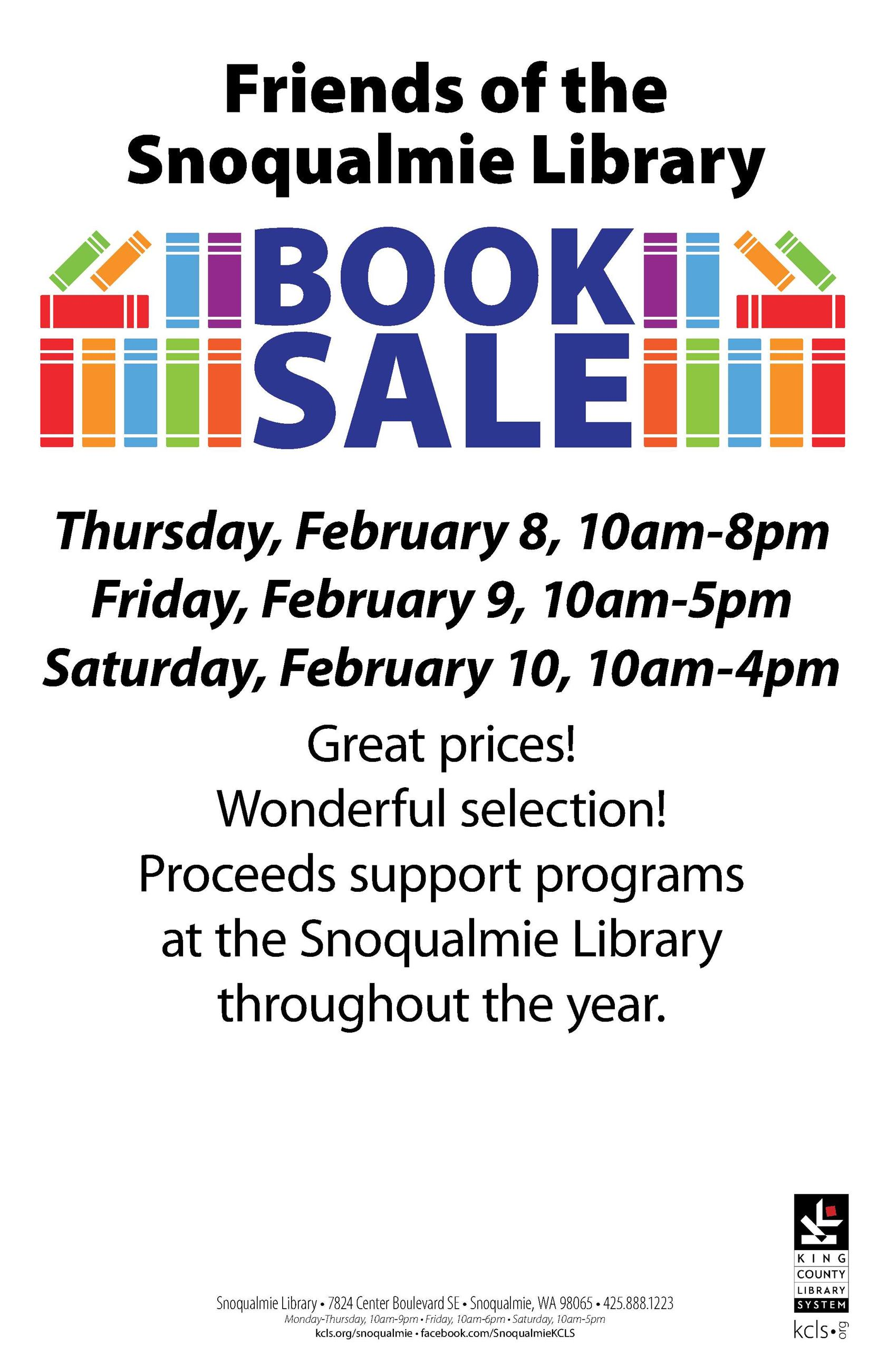 2018 SN Book Sale poster