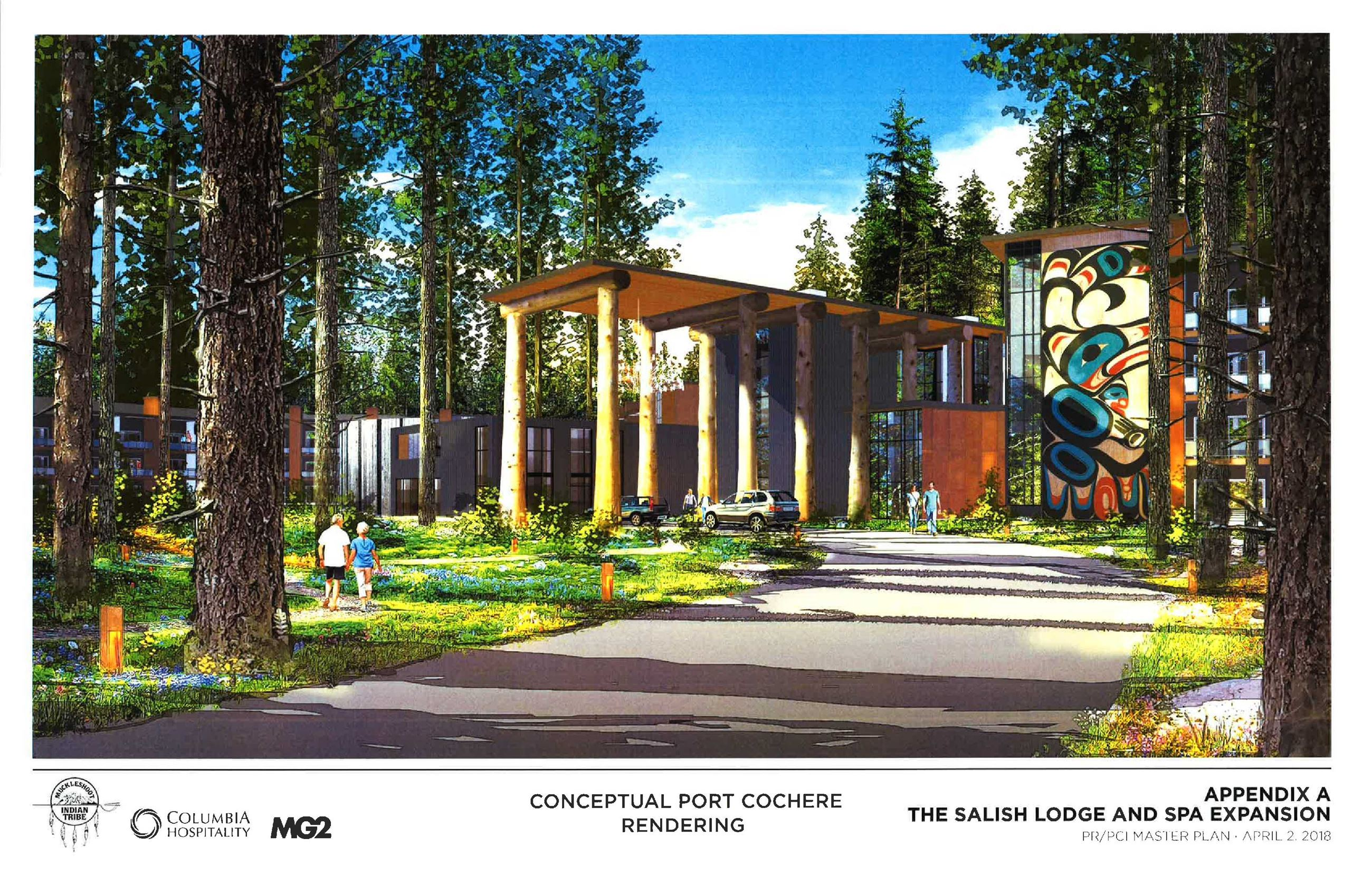 This is a conceptual rendering of the expanded Salish Lodge & Spa.