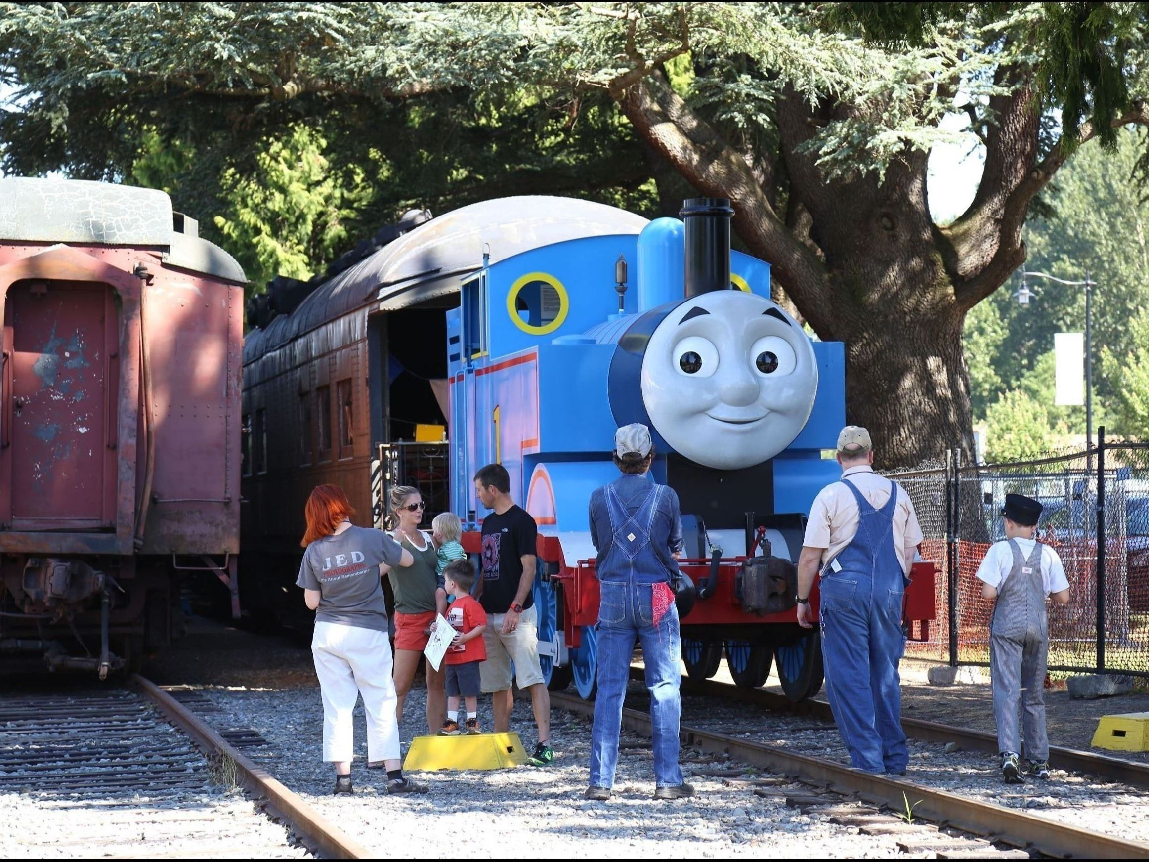 This is a picture of Thomas the Tank Engine from the Children&#39s Television Cartoon.