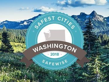 This is a picture of the logo for Safest City in Washington.