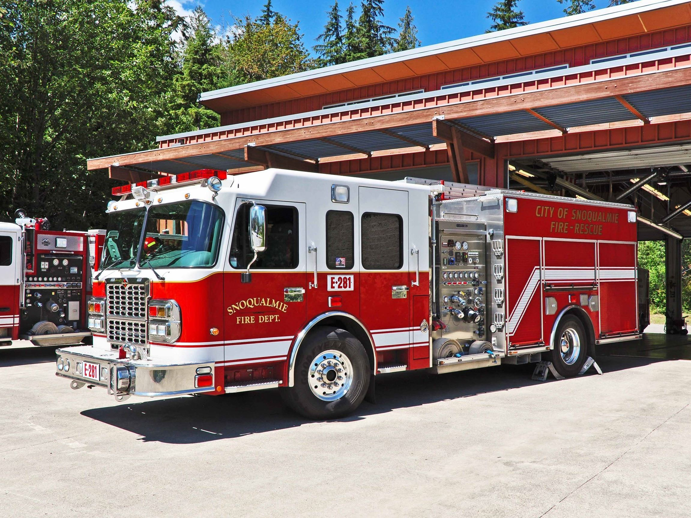 This is a photo of a Snoqualmie Fire Department Fire Truck.