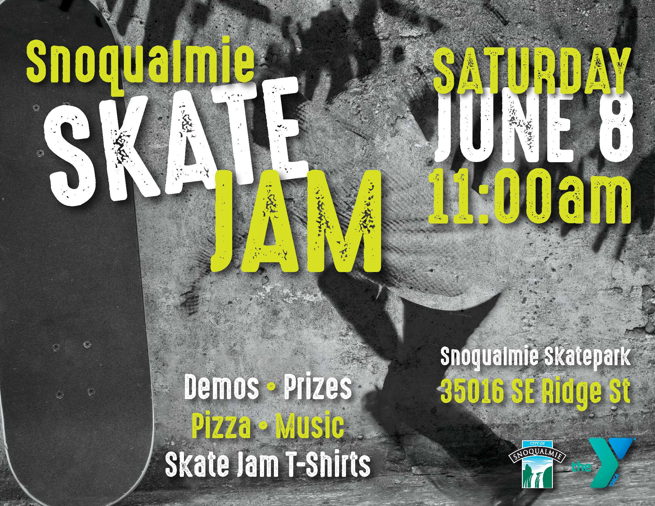 This is the Snoqualmie Skate Jam Poster.