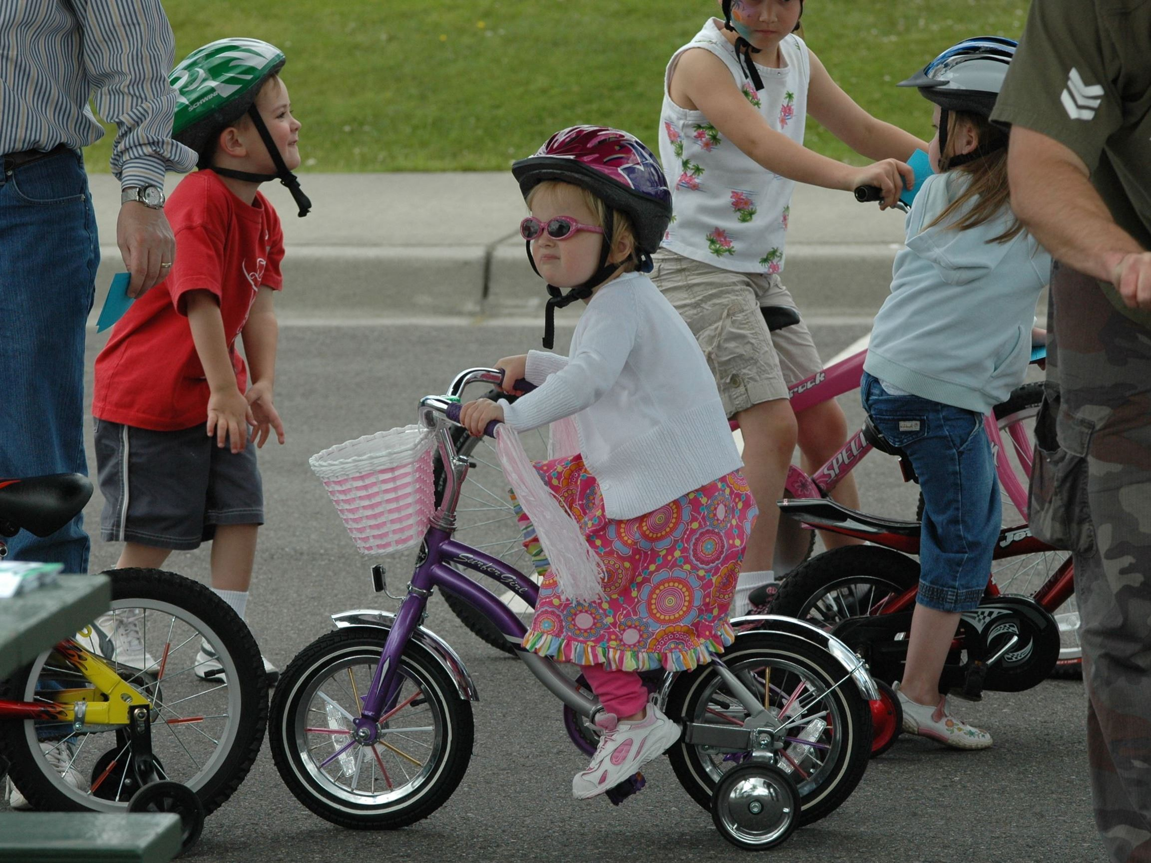 Bicycle Safety Rodeo Girl with Helmet