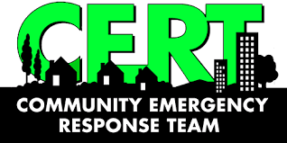 This is an image of the logo for the Community Emergency Response Team (CERT) program.