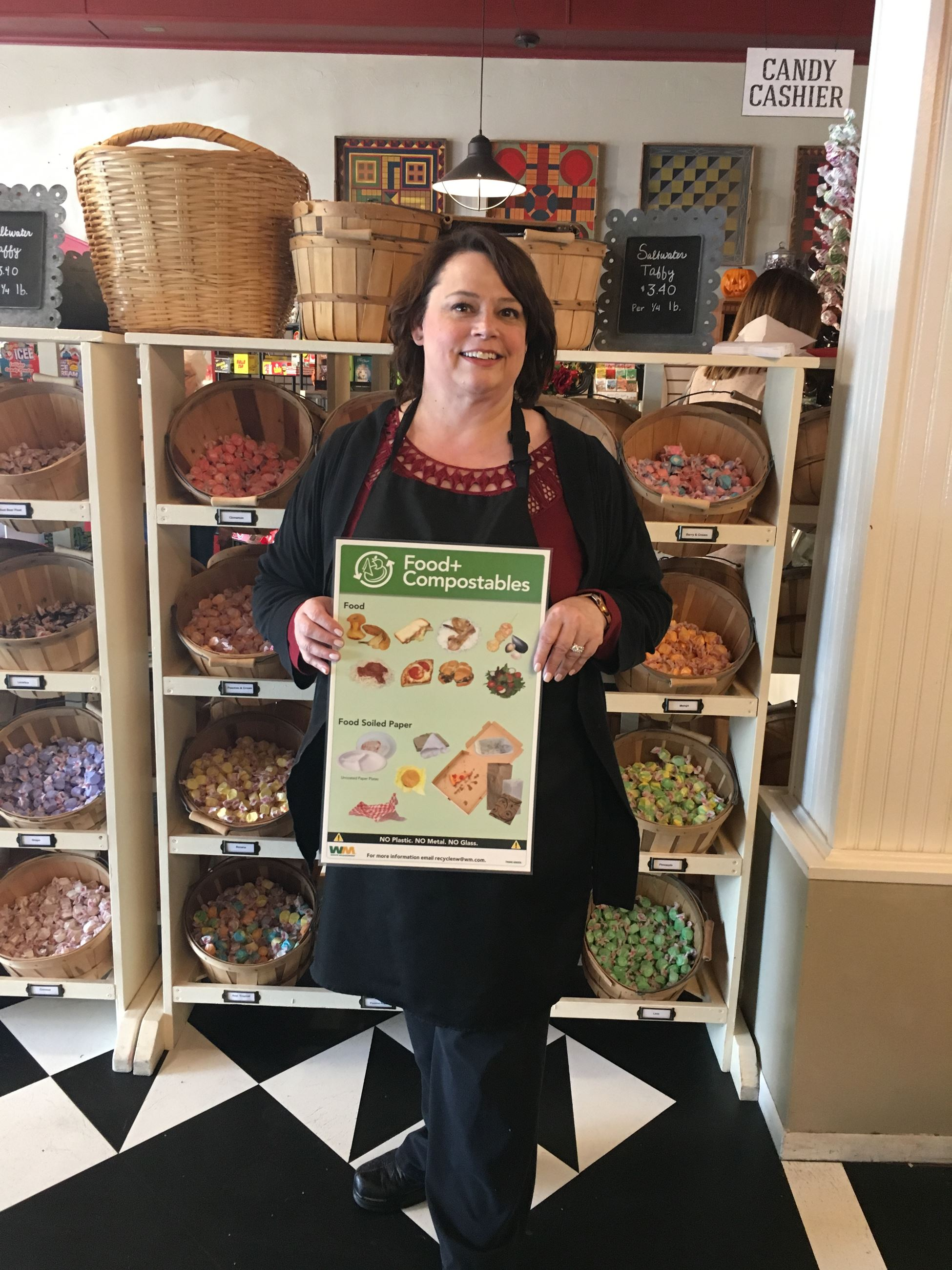 Snoqualmie Falls Candy Shoppe Joined Businesses Compost Campaign