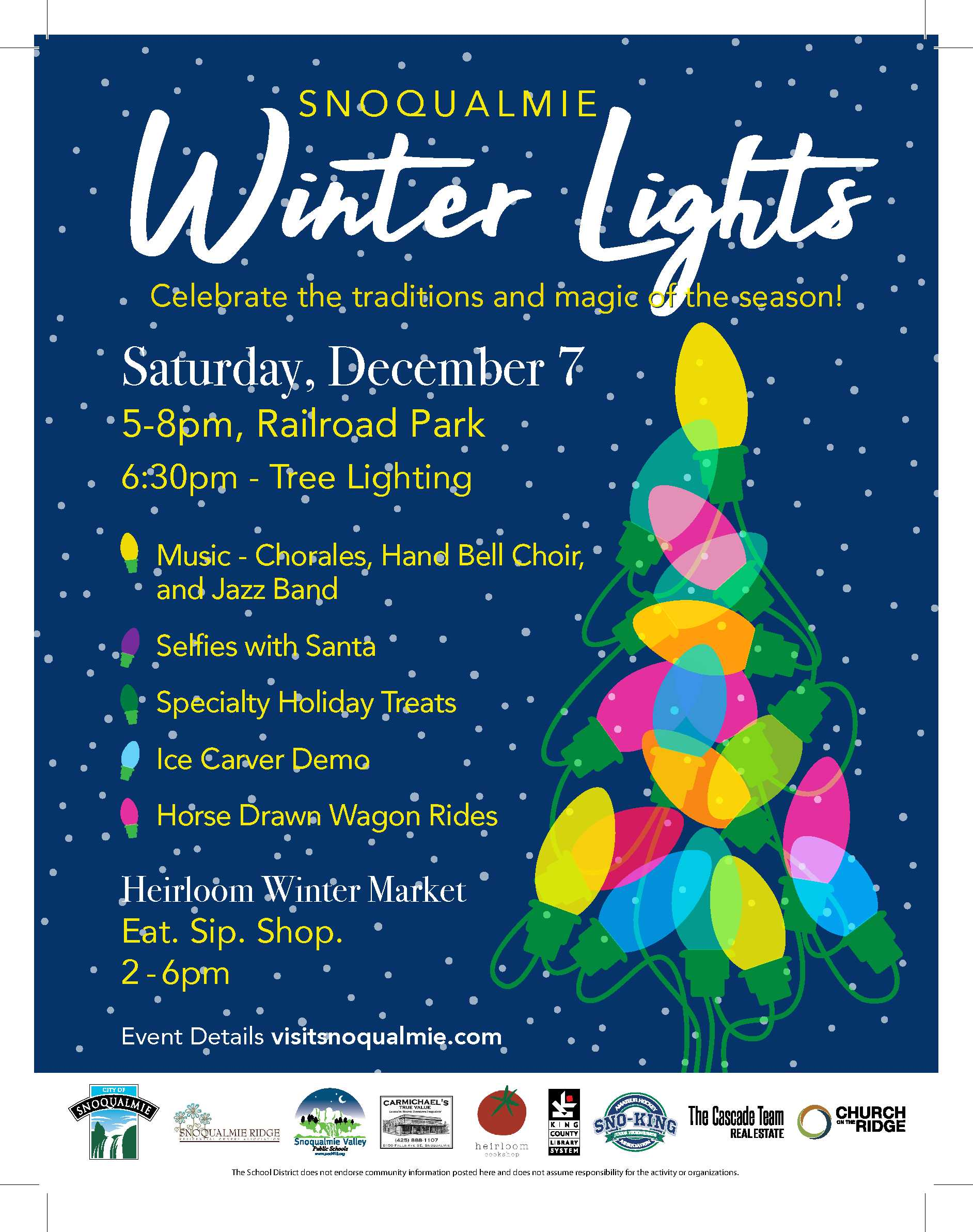 2019 Snoqualmie Winter Lights Flyer