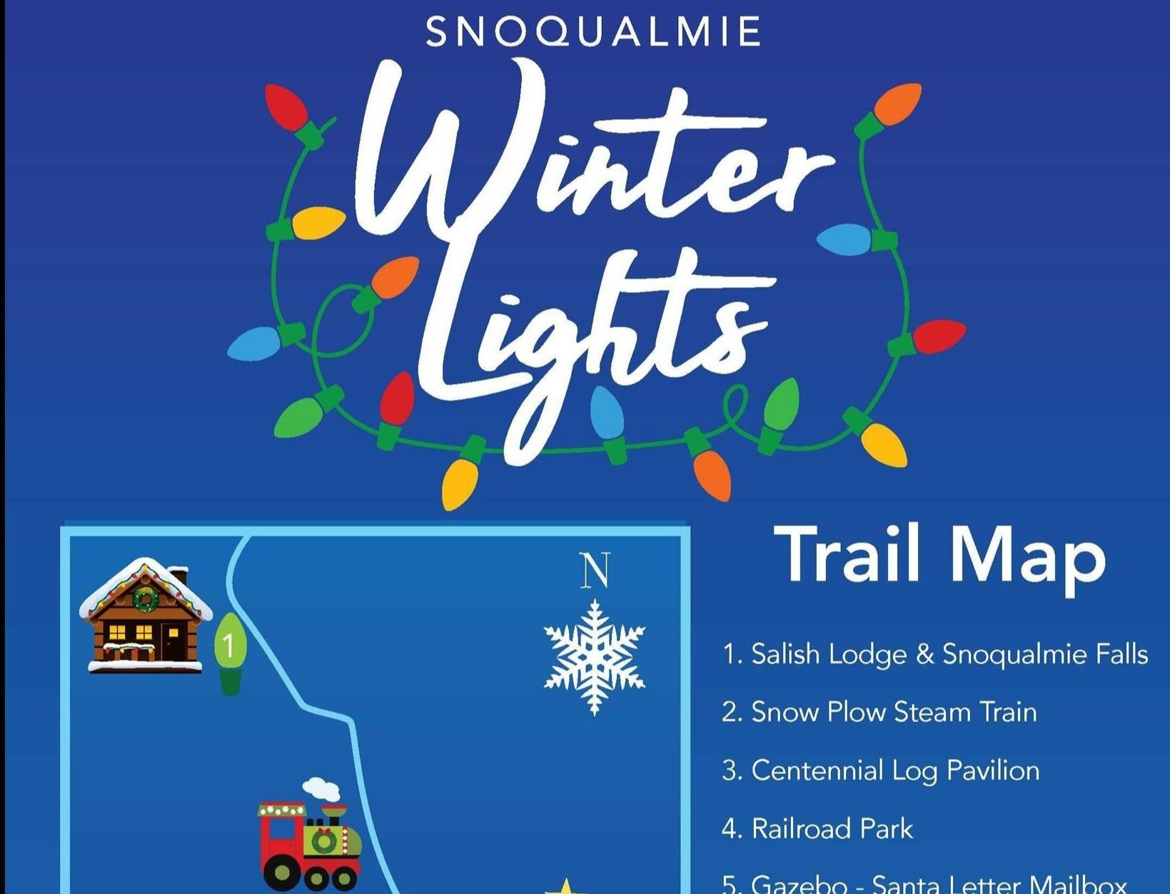 2019 Snoqualmie Winter Lights Trail Map