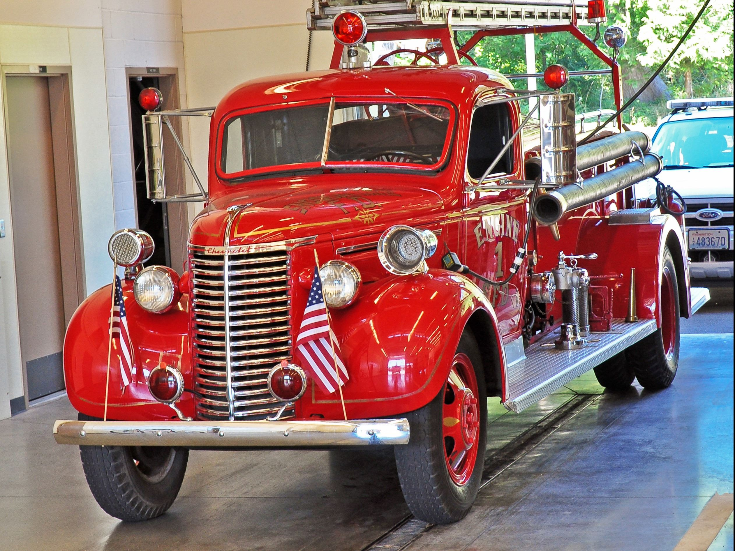 This is a photo of Snoqualmie Fire Truck No. 1.