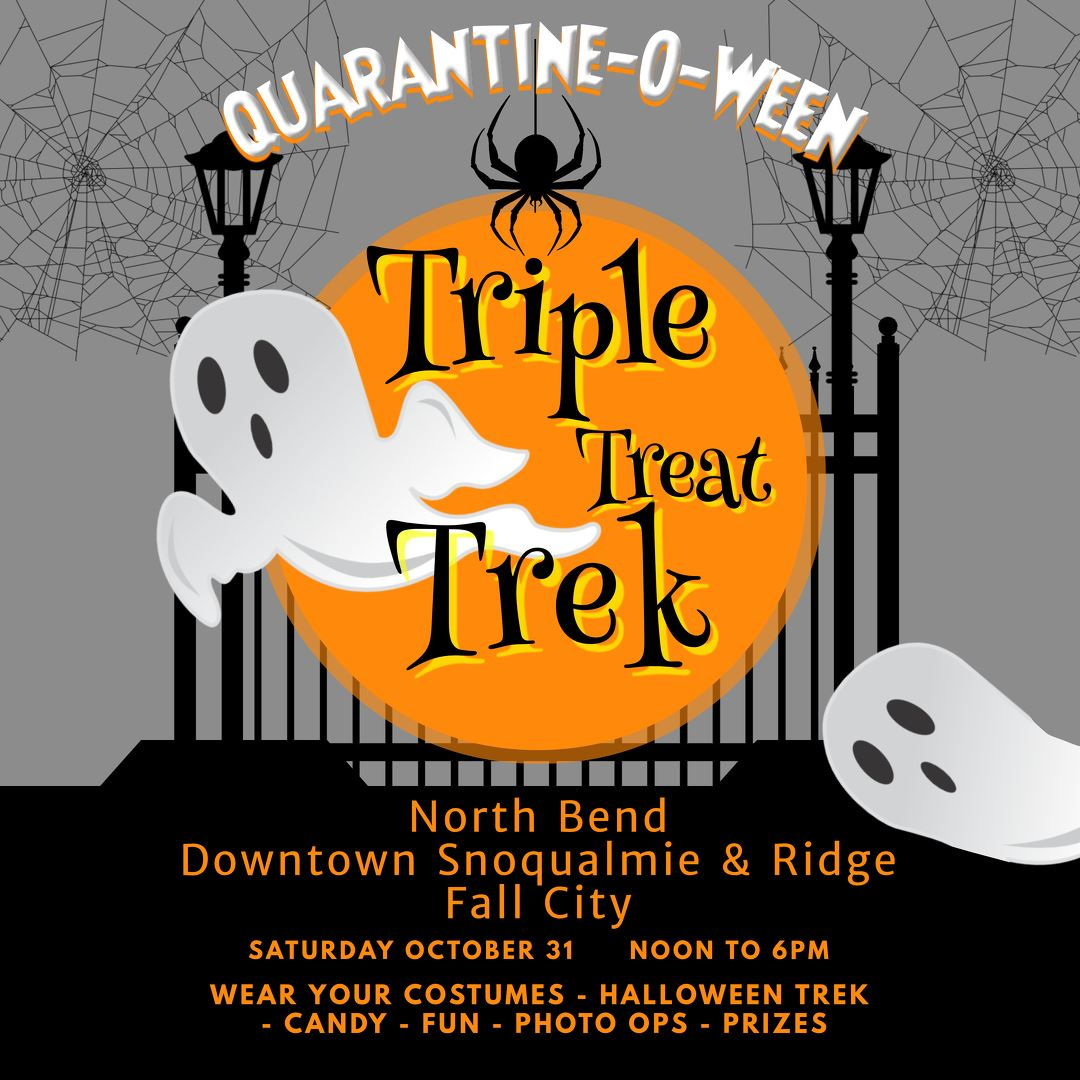 This is an image of a flyer for the Halloween Trek event in the Snoqualmie Valley.