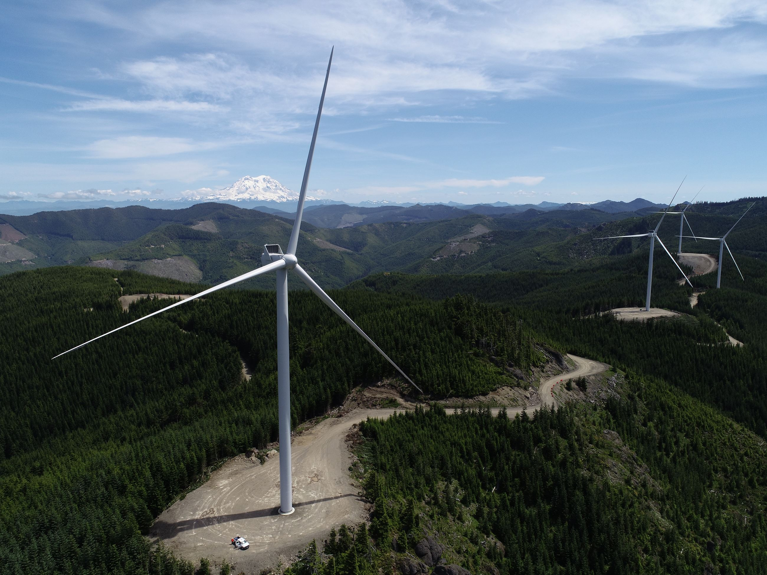 This is a photo of the Skookumchuck Wind Facility.