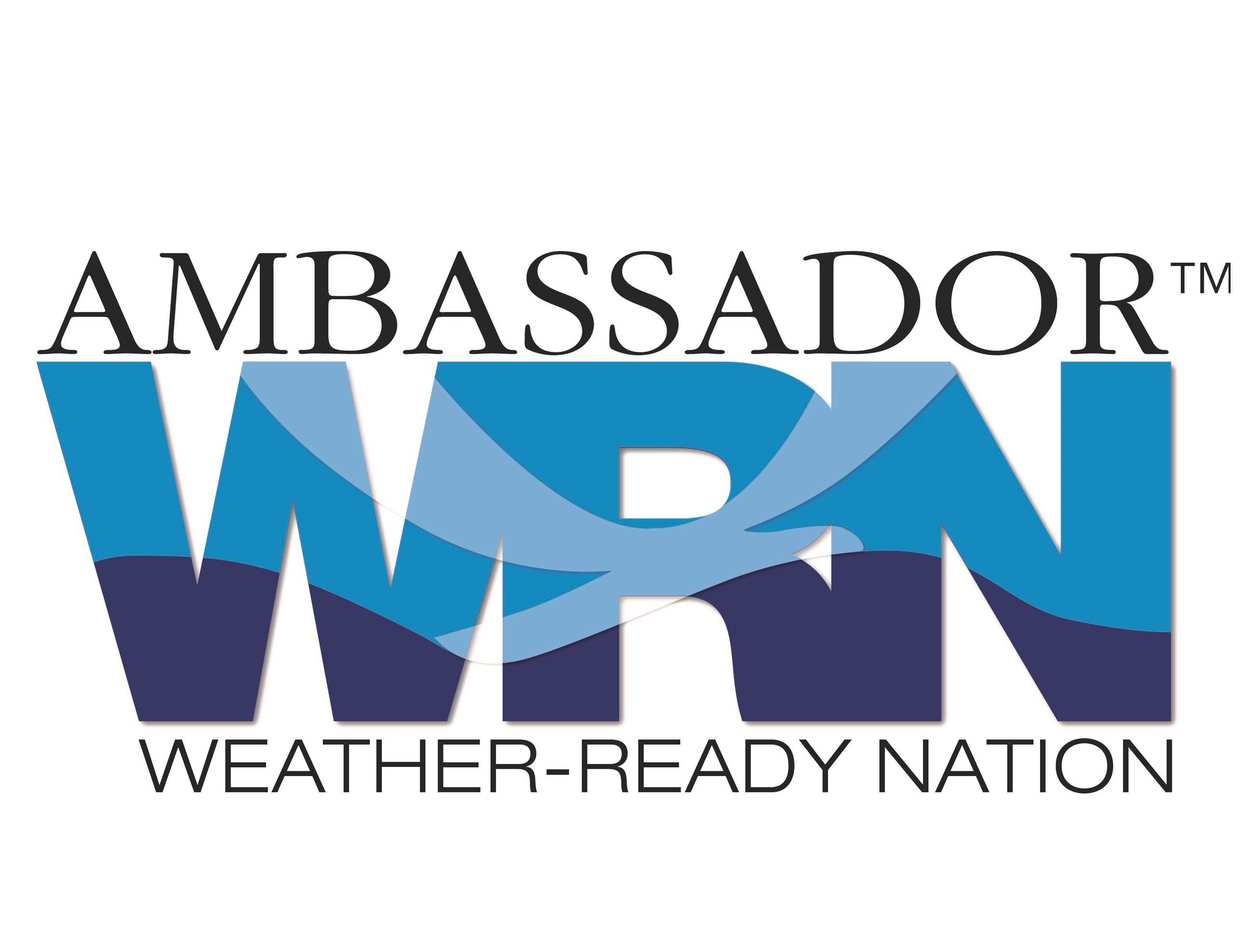 This is an image of the NOAA Weather-Ready Nation Ambassador logo.
